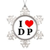 YOBSTF7s Tree Branch Decoration I Love DP Christmas In Heaven Snowflake Ornament Love