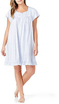 Eileen West Plus Geometric Jersey Nightgown