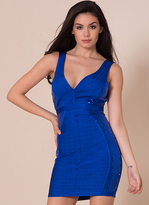 Missy Empire Keara Royal Blue Sequin Detail Bandage Dress