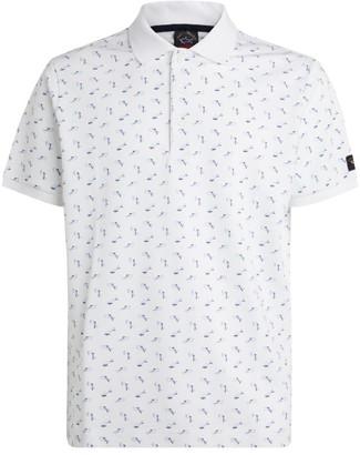 Paul & Shark Mini Shark Pattern Polo Shirt