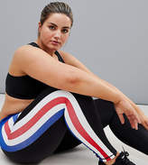 South Beach Plus Stripe Panel Legging