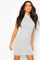 boohoo High Neck Cap Sleeve Bodycon Dress