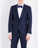 Canali Floral-jacquard Wool And Cotton Jacket