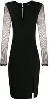 Karl Lagerfeld Paris mesh-panel fitted dress