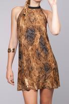 Umgee USA Printed Halter Dress