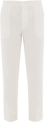 Onia Collin Linen Trousers - Mens - White