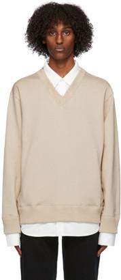 Mastermind Japan Beige Collared Sweatshirt