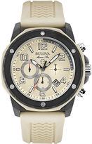 Bulova Mens Sand Silicone Strap Chronograph Sport Watch 98B201