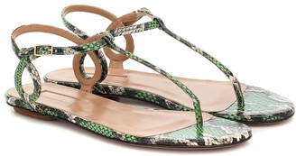 Aquazzura Almost Bare snakeskin sandals