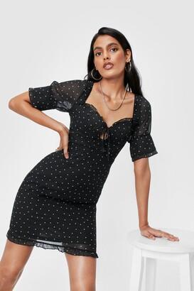 Nasty Gal Womens You Dot It Good Polka Dot Mini Dress - Black - 4, Black