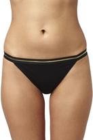 Topshop Gold Stripe Tanga Bikini Bottoms