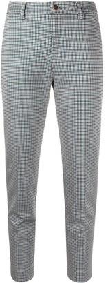 Liu Jo Houndstooth Slim-Fit Trousers