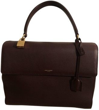 Saint Laurent Moujik Burgundy Leather Handbags