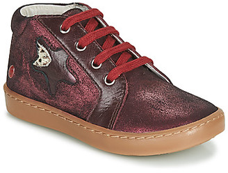 GBB LETO girls's Shoes (High-top Trainers) in Red
