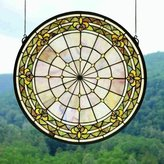 Meyda Tiffany 49840 21 Inch H X 21 Inch W Fleur-De-Lis Window