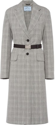 Prada Prince of Wales knee-length coat