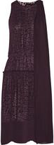 Just Cavalli Layered leopard-print chiffon dress