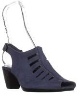 Munro American Abby Peep Toe Sandals, Blue.