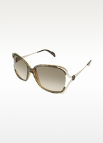 Giorgio Armani Open Lens Logo Round Sunglasses
