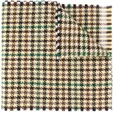 Gucci checkered fringed scarf