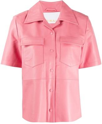 Remain Short-Sleeved Notched Collar Shirt