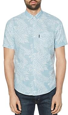 Original Penguin Cotton Leaf Printed Regular Fit Shirt