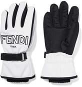 Fendi Two-tone Shell Ski Gloves - White