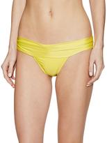 Vix Paula Hermanny Solid Pleats Bikini Bottom
