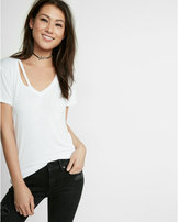 Express slash v-neck tee
