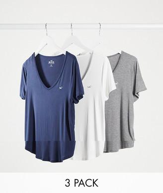 Hollister basic short sleeve t-shirt 3pack