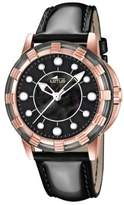 Lotus Women's Quartz Watch with Black Dial Analogue Display and Black Leather Strap 15860/2
