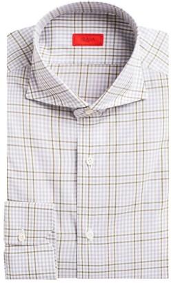 Isaia Contemporary-Fit Plaid Dress Shirt