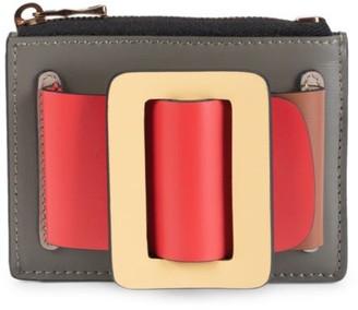 Boyy Buckle Colorblock Leather Card Case
