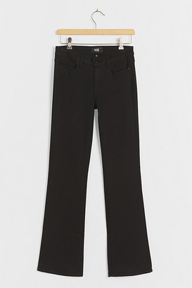 Paige Manhattan Mid-Rise Bootcut Jeans By in Black Size 25