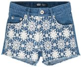 Levi's Girls 4-6x Floral Lace Stretch Denim Shorts