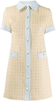Sandro Paris Mella embroidered mini dress