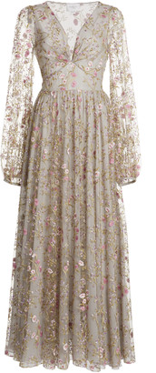 Giambattista Valli Floral Embroidered Gown