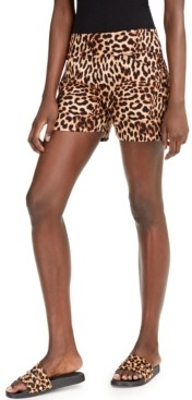 INC International Concepts Inc Plus Size Animal-Print Shorts, Created for Macy's