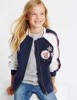 Marks and Spencer Pure Cotton Bomber Jacket (3-14 Years)