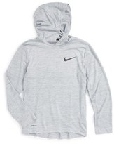 Nike Boy's Hooded Long Sleeve Dri-Fit Training Top