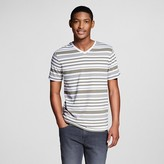 Mossimo Men's V-Neck T-Shirt Olive Green Stripe