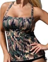 XIAOLI COLLETION Women Plus Size Two Piece Swimsuit Printed Tankini Set