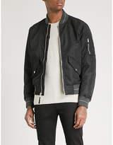 Michael Kors Striped-trim shell bomber jacket