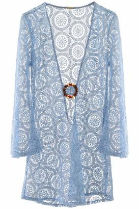 Dodo Bar Or JANE LACE MINI DRESS L Light blue Cotton