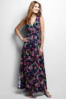 Lands' End Women's Petite Knit Maxi Dress-Diode Pink Floral