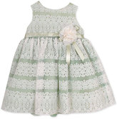 Rare Editions Baby Girls' Striped Lace Dress