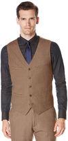 Perry Ellis Slim Fit Textured Heather Suit Vest