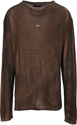 Fourtwofour On Fairfax 424 Striped Long Sleeve T-shirt