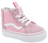 Vans 'Sk8-Hi Zip' Sneaker (Walker & Toddler)