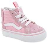 Vans Toddler Girl's 'Sk8-Hi Zip' Sneaker